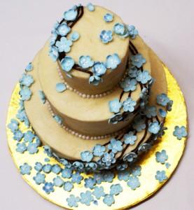 blue flower 4 277x300 Blue Flower Cake