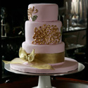 Golden Flower Cake