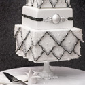 Sparkling Winter Wedding Cake