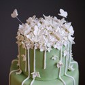 Spring Flower and Vines Wedding Cake