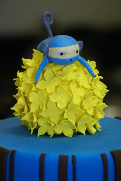 blue monkey closeup Blue Monkey Cake
