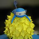 Blue Monkey Cake