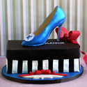 Stiletto shoe box cake