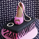 Louboutin Stiletto and Shoe box cake