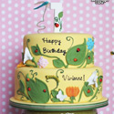 Ten Ladybugs Birthday Cake