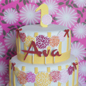 Chrysanthemum Flower Birthday Cake