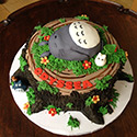Sleeping Totoro Cake